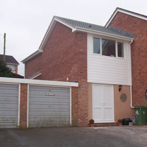 Home extension to a three bed house.